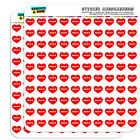 """1/2"""" (0.5"""") Scrapbooking Crafting Stickers I Love Heart City State F-K"""