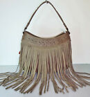 New Montana West - Trinity Ranch® Studded Hobo w/ Long Soft Leather Fringe