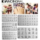 Pochoir Stamp Stamping Tampon Ongles Décal Noël Template Plaque Acier Nail Art