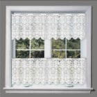 """White Kitchen Cafe Net Curtain Lace Sold by the metre 14"""" 24"""" and 35"""" Drop"""