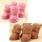 Warm Winter Pet Dog Boots Puppy Shoes 2 Colors For Small Dog