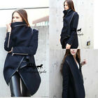New Fashion Temperament Slim Wool Coats Overcoat Dust Coat Cotton Scarf
