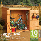 WOODEN BIKE STORE SHED GARDEN PENT BICYCLE STORAGE T&G SHIPLAP DOUBLE DOORS