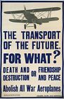 Vintage Ban All Military Aeroplanes  Poster A3 Print