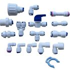 """1/4"""" Push Fit Pipe Fittings for American Fridge and RO Unit Elbow, Tee Piece etc"""