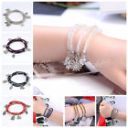 Fashion Crystal Glass Faceted 4MM Bead Rondelle Bracelet/Necklace Dangle Chain