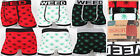 3 Pairs Mens Boxer Shorts Seamless Trunks Briefs Adults Underwear Weed Designer