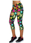 spp7 Celeb Style Floral Print Geo 3/4 Fitness Yoga Activewear Leggings Thights