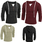 New Arrival Men's Knitted Casual Hoodies Slim Fit Long Sleeves Thin Sweatshirts