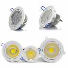 3W 5W 7W 9W 12W COB LED Ceiling Downlights Angle Adjustment Recessed Spotlights