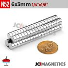 "Внешний вид - 12 50 100 1000pc 6mm x 3mm 1/4""x1/8"" N52 Strong Disc Rare Earth Neodymium Magnet"
