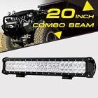 20INCH 126W CREE Led Work Light Bar Flood Spot Driving Offroad 4WD Truck Atv UtE