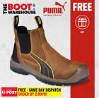 Puma Work Boots 630267 Tanami Brown, Composite Safety, Elastic Sided, Metal Free