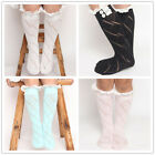 Baby Children Girls Lace Flower Soft Cotton Long Socks Stocking Knee High Tights