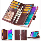 Double Flip book Leather Wallet Case Cover for iPhone / Samsung Galaxy S / Note