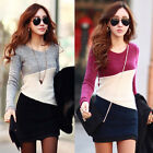 New Women Girls Winter Long Sleeve Bodycon Sweaters Knitted Dress Cardigans Tops
