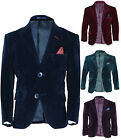 Designer Boys Velvet Blazer Jacket Green Navy Blue Purple Burgundy 3 to 13 Years