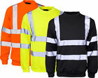 Hi Vis Visibility Crew Neck Sweatshirt Jumper - Safety | Work | Security Top