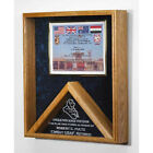 Military Certificates And Flag Frames - Combo Flag Case Hand Made By Veterans