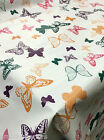 PLAIN MULTI COLOURED BUTTERFLY PINK PVC PLASTIC VINYL OIL TABLE CLOTH PROTECTOR