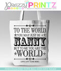 PERSONALISED SHOPPING BAG TOTE NAN MUM AUNTIE SISTER CHRISTMAS GIFT MOTHERS DAY