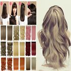 Big Discount Half Full Head Clip in Hair Extensions Long Black Red Brown fo