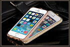 Luxury Crystal Diamond Bling Metal Case Cover Bumper For iPhone 6/ 6s /5s/5