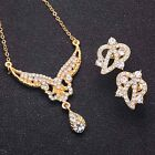 Fashion Woman Wedding Jewelry Sets 18K Gold Plated Crystal Necklace Earrings <br/> 8000 Sold+! High Quality! 170Styles BUY3,GET1 AT16%OFF