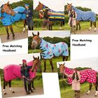 FLEECE RUG ALL SIZES VARIOUS COLOURS PONY COB HORSE SHOW TRAVEL STABLE