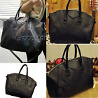 Womens NEW Designer PU Leather Tote Satchel Shoulder Bag Handbag Black Messenger