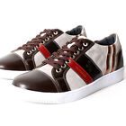 Premium Sun Mens Lace Up Sneakers Shoes Brown
