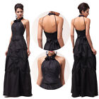 Masquerade Black 50's Women Long Formal Bridesmaid Evening Gown Party PROM Dress