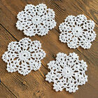 4/SET 8/SET 4'' Round Handmade Cotton Crochet Lace Doilies Coaster Placemat S01