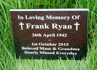 Engraved Natural Granite Memorial Plaque Grave Marker Headstone 30cm x 20cm