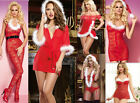 Sexy Womens Red Santa Lingerie Chemise Babydoll Christmas/valentine Gift S/M-3XL