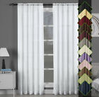 Abri Modern & Elegant Single Rod Pocket Crushed Sheer Window Curtain Panel