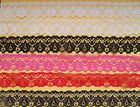 "Quality NOTTINGHAM LACE 11/4""/3.5cm White,Ivory,Navy,Black,Pink,Red,Plum,Grey +"