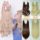 Clip In Synthetic Natural Hair Extensions Hair Wire Piece Curly Straight New FTD