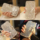 Lxuury Bling Bowknot Crystal Wallet Flip Case Cover Protector For Iphone/Samsung