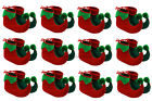 12 X ELF BOOTS PIXIE SHOES CHRISTMAS FANCY DRESS COSTUME GROUP GNOME XMAS