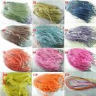 30pieces Voile Ribbon Necklace Silk Cord Clasp Mixed Colors 45cm K94