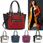 Ladies Fashion Designer Celebrity Style Tote Handbag Women's Faux Leather Bag 41