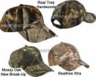 Garment Washed Camo Baseball Cap Hunting Hat Camouflage Mossy Oak Realtree NEW!