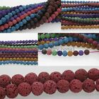 """15"""" Approx 50pcs 8mm Natural Lava Rock Round Shape Gemstone Spacer Beads Strand"""