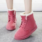 Women's Ladies Warm Winter Fur Lined Martin Boots Snow Ankle Boots Shoes free