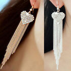 Womens Glamor Tassels Hook Dangle Drop Linear Fantastic Earrings Party Cocktail