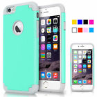 """For iPhone 6 6S 4.7"""" / Plus 5.5""""Shockproof Rugged Hybrid Rubber Hard Cover Case"""