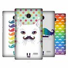 HEAD CASE DESIGNS RAINBOW MOUSTACHE HARD BACK CASE FOR NOKIA PHONES 3