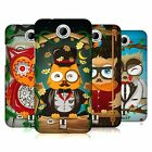 HEAD CASE DESIGNS FANCIFUL OWLS HARD BACK CASE FOR HTC PHONES 3