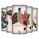 HEAD CASE DESIGNS PATTERNED MAPS HARD BACK CASE FOR LG PHONES 3